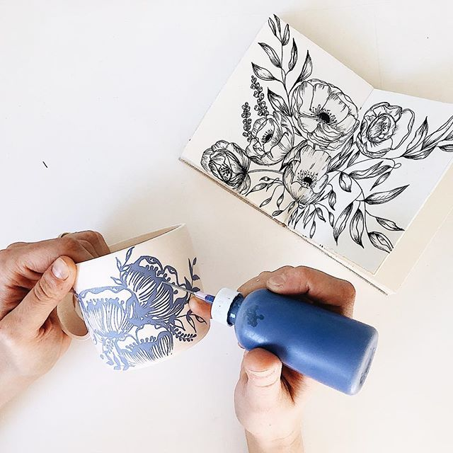 Creating pieces of art to be enjoyed and handled everyday. Handmade and hand-drawn with love.  xo, Maryfrances . . (Announcing this Saturday the release date for all the indigo florals!)