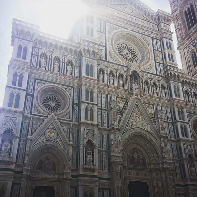 """Florence is a relentless beautiful-hot shopping mall - but here's its famous duomo, Santa Maria del Fiore """"of the flowers"""", dedicated to the goddess. They may have stripped Mary of her of her womanhood by casting her as a virgin, but you just can't keep the goddess down, here she is presiding over the third largest church in the world. . . #photodoesntdoitjustice #florence #firenze #santamariadelfiorecathedral #goddess #santamaria #goddessworship #consumerismsucks #fuckluxury"""