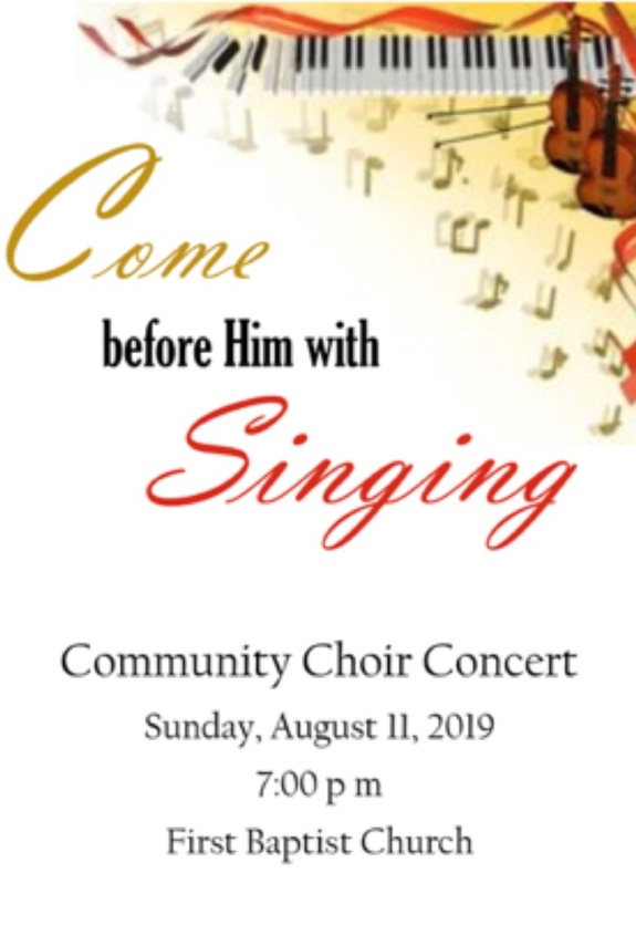 LISTEN TO THE SUMMER COMMUNITY CHOIR CONCERT