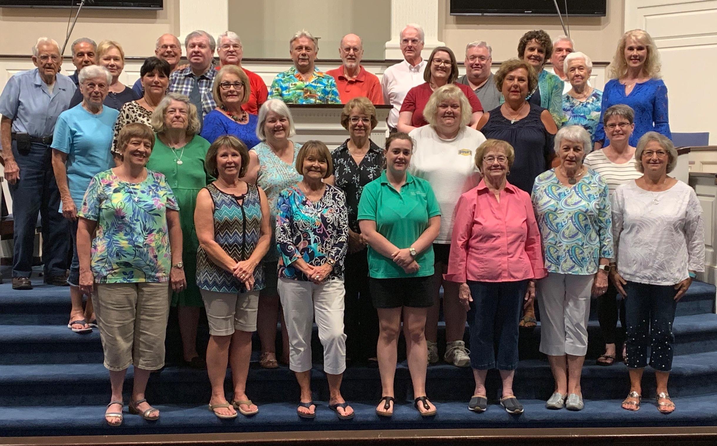 The 2019 Community Choir at rehearsal