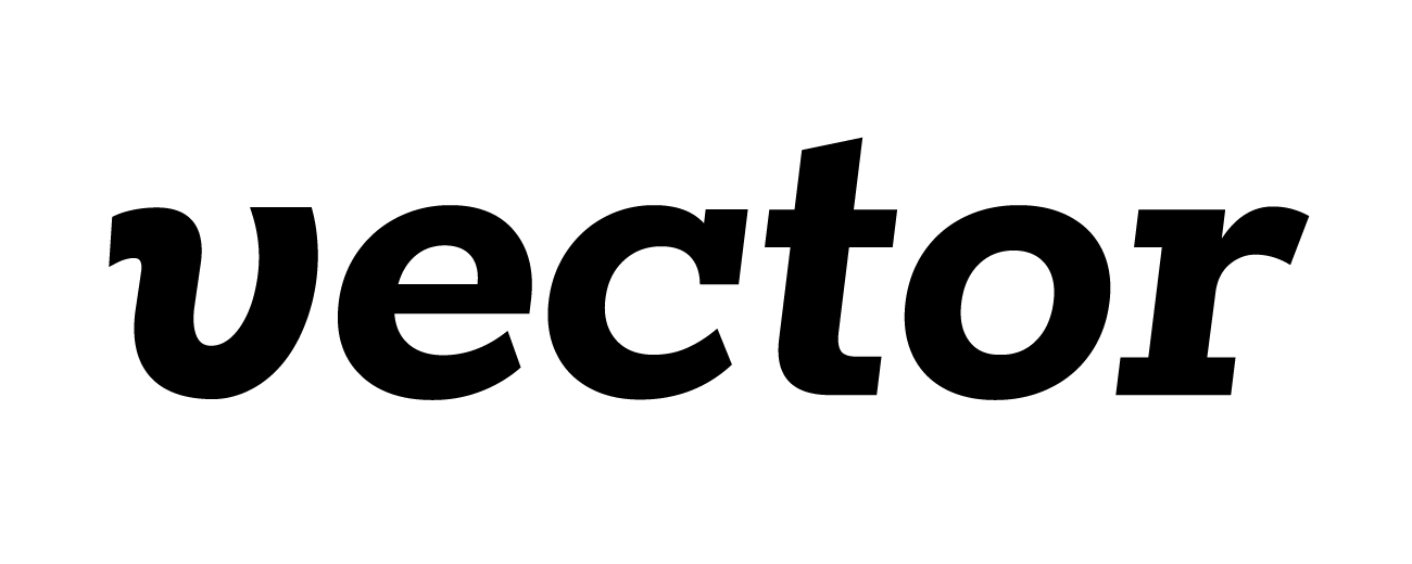 The logo after shearing the base Rokkitt font and adding the 'v' from the Pluto font.