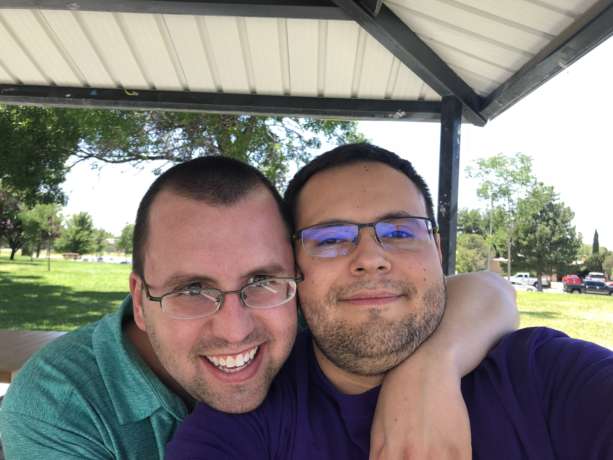 Daniel (my partner) Left, Ben Archuleta Right.