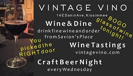 Three Fast Facts - Here is the new card backing up the fresh new warm greeting and the Xperience and inviting the guest to come back and partake of a nice glass of wine after they finish their meal at the other restaurant!