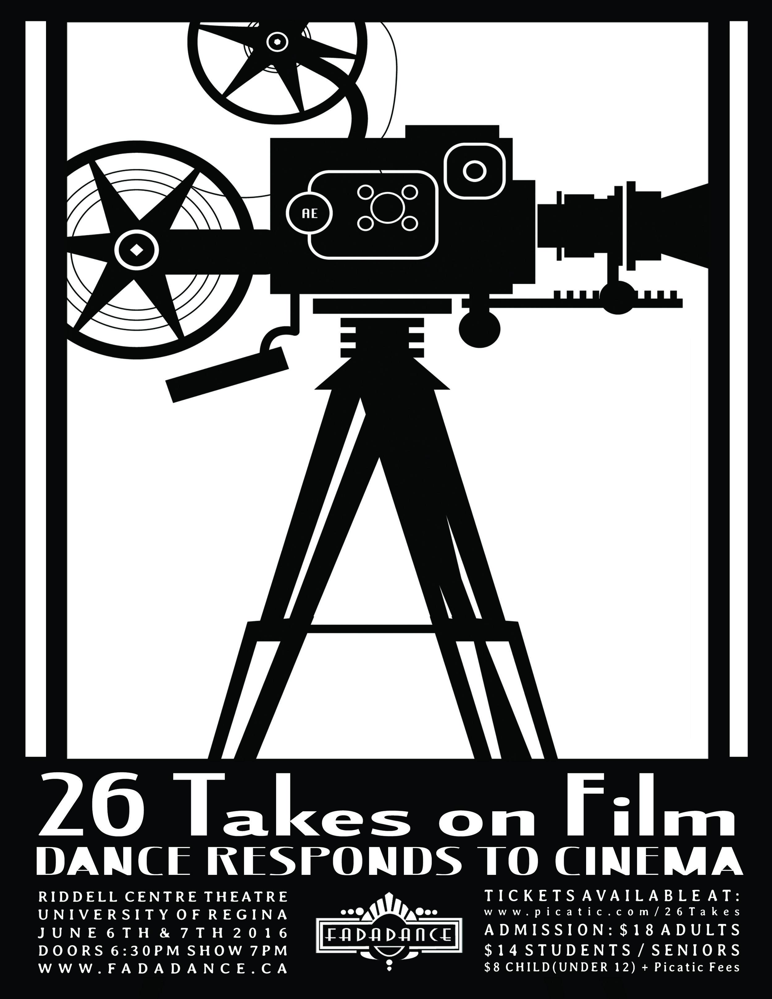 2016 - FadaDance School Year End Performance26 Takes on FilmDance Responds to CinemaRiddell Centre Theatre June 6 & 7, 2016Photography- Shawn Fulton