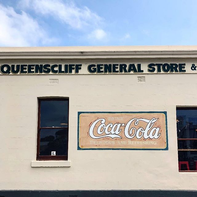 Nothing like a little dose of nostalgia to bring a smile to the face. Who doesn't love a cute corner store? 📷: @queenscliff_generalstore  #lovewherewelive #smallbusiness #geelong #bellarinepeninsula #explorevictoria #erskinemedia #geelongbusiness #generalstore #cocacola #signage #queenscliff