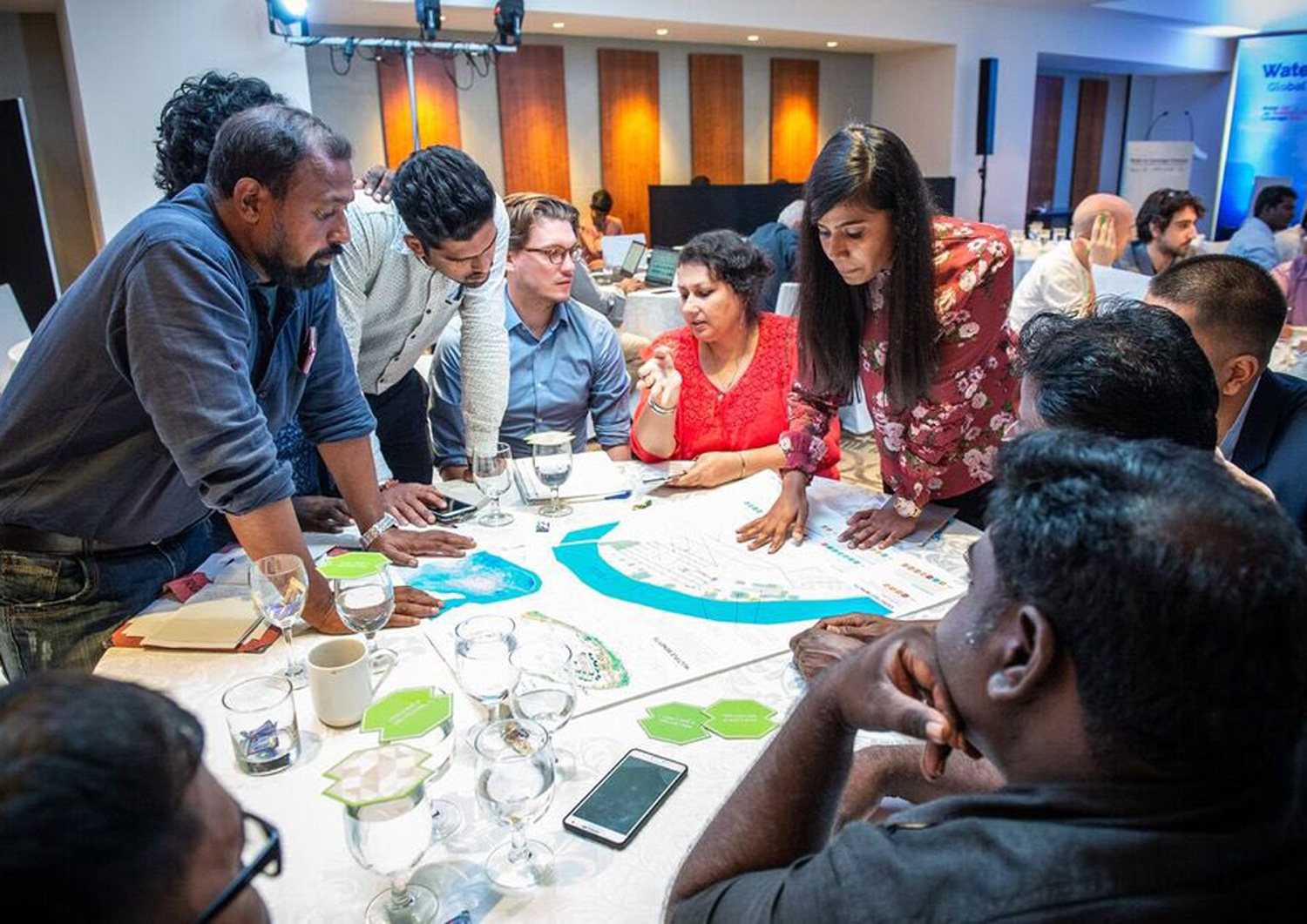 Nilofer Tajuddin from Ooze leads one of the workshops to present proposals for 4 sites across Chennai, and a regional strategy ©CynthiavanElk/WaterasLeverage