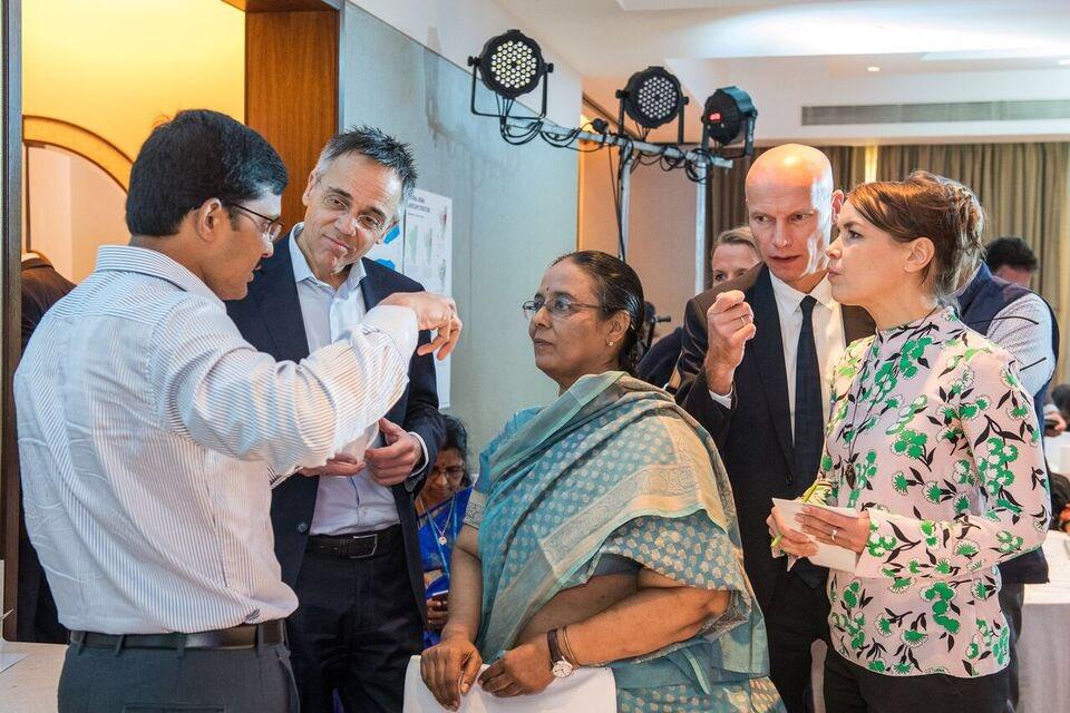 Eva Pfannes, Hans Gehrels, Henk Ovink and Jayshree Vencatesan in conversation with the Greater Chennai Corporation, Deputy Commission (Works) M.Govinda Rao, I.A.S ©CynthiavanElk/WaterasLeverage