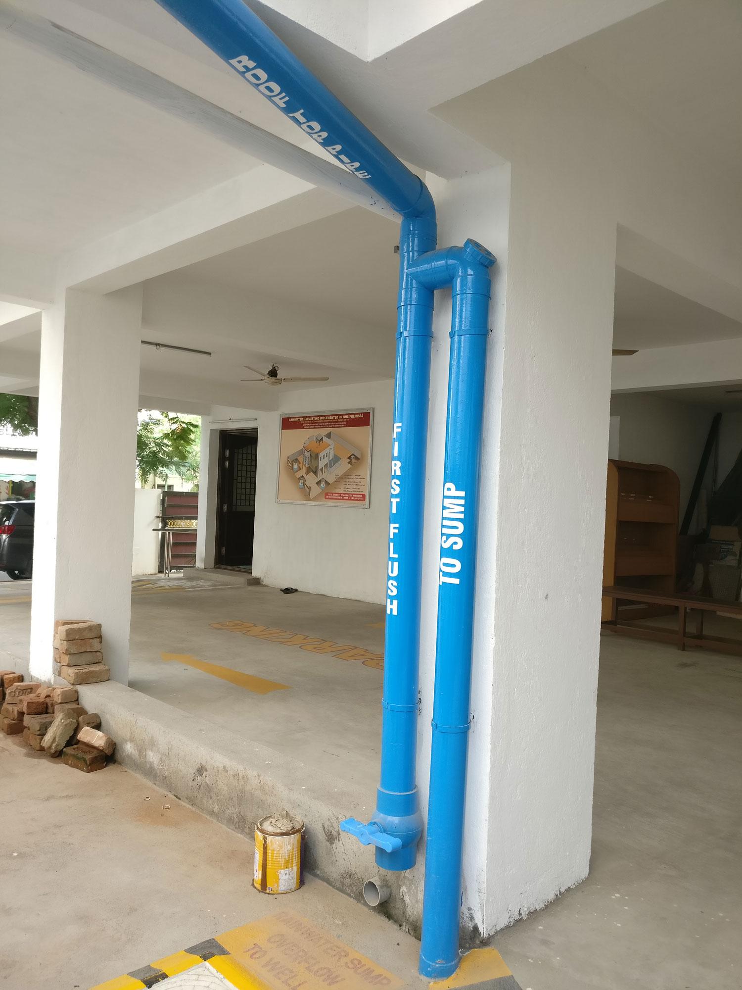 Rainwater harvesting at the building level  ©Rain Centre Chennai