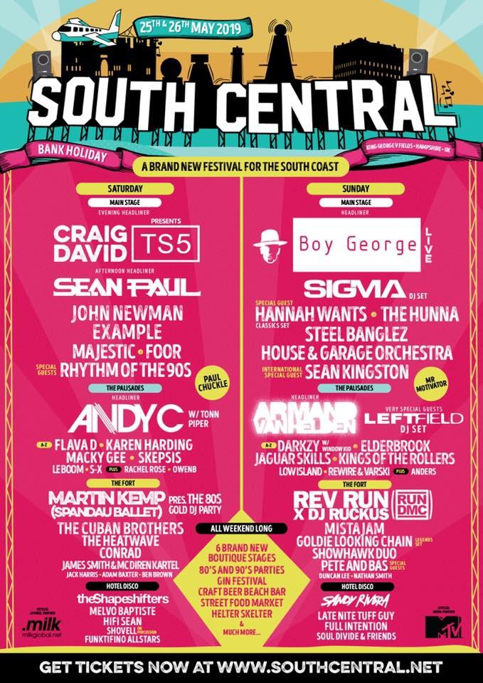 South Central Festival Line Up
