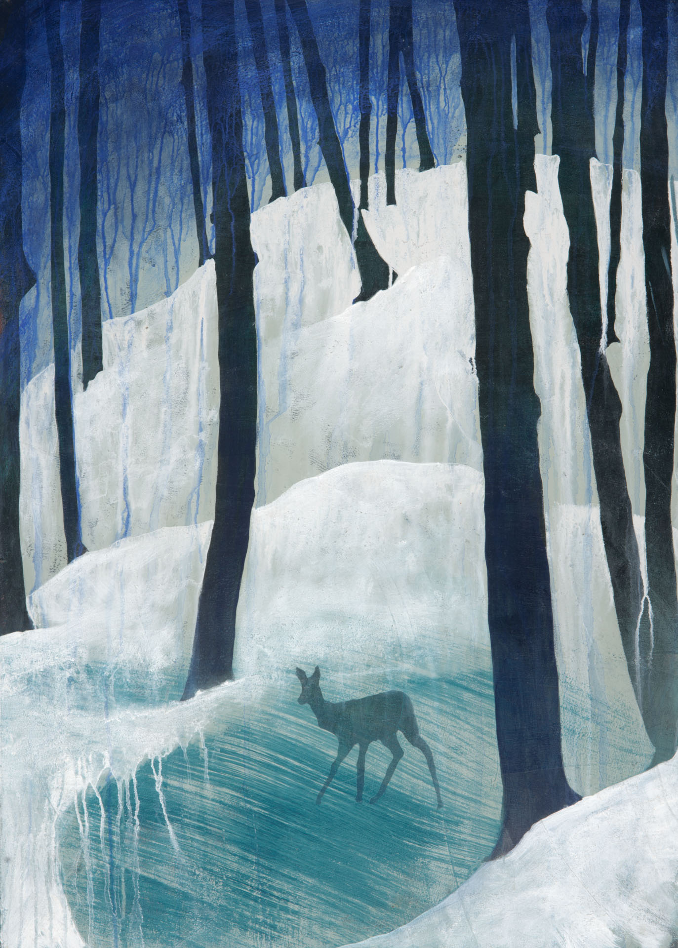 Winter Doe I - Woodstock, Vermont