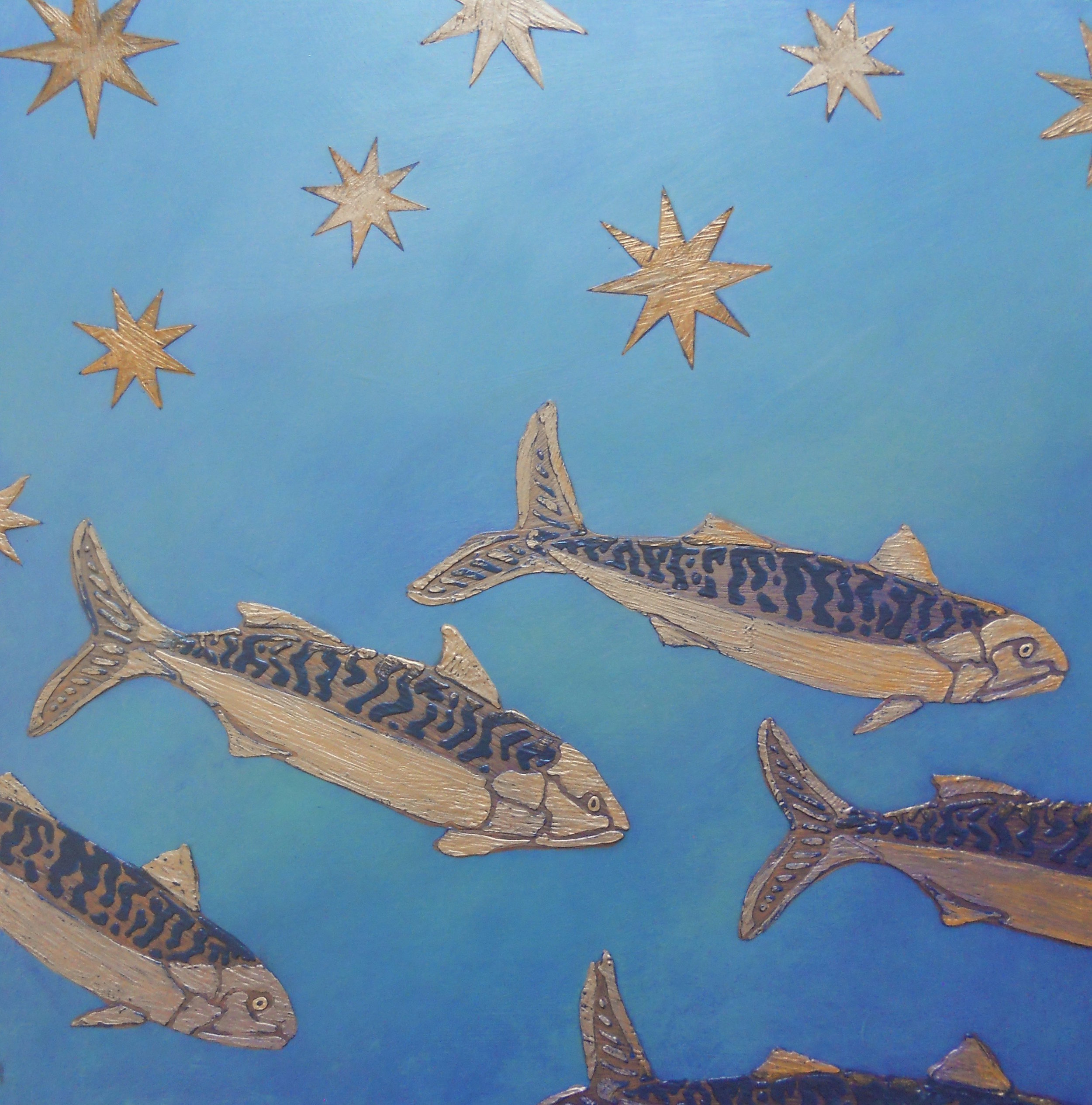 Nigh Swim of the Mackerel (After Giotto)