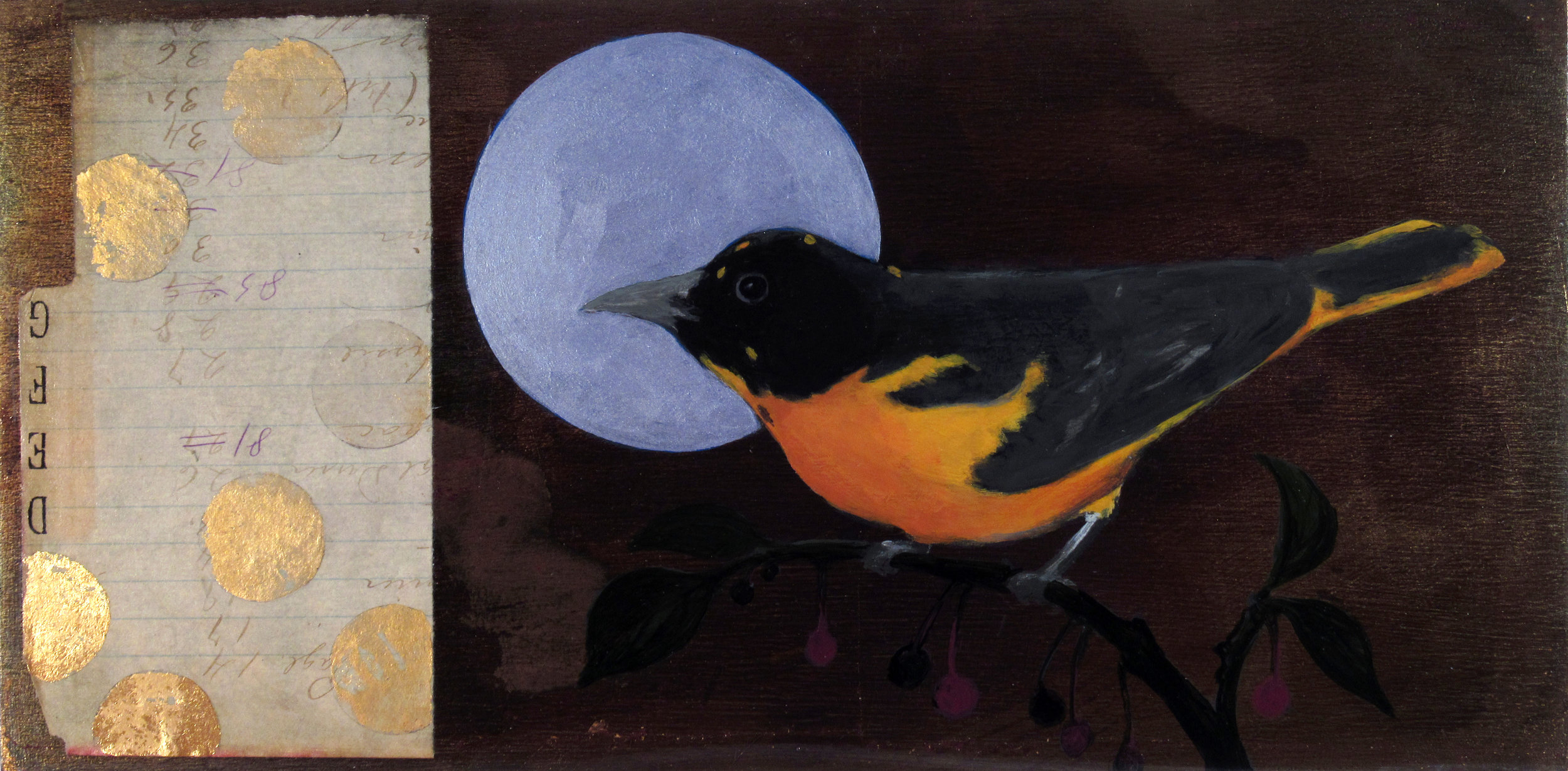 Lunar Cycles - Oriole with Serviceberry