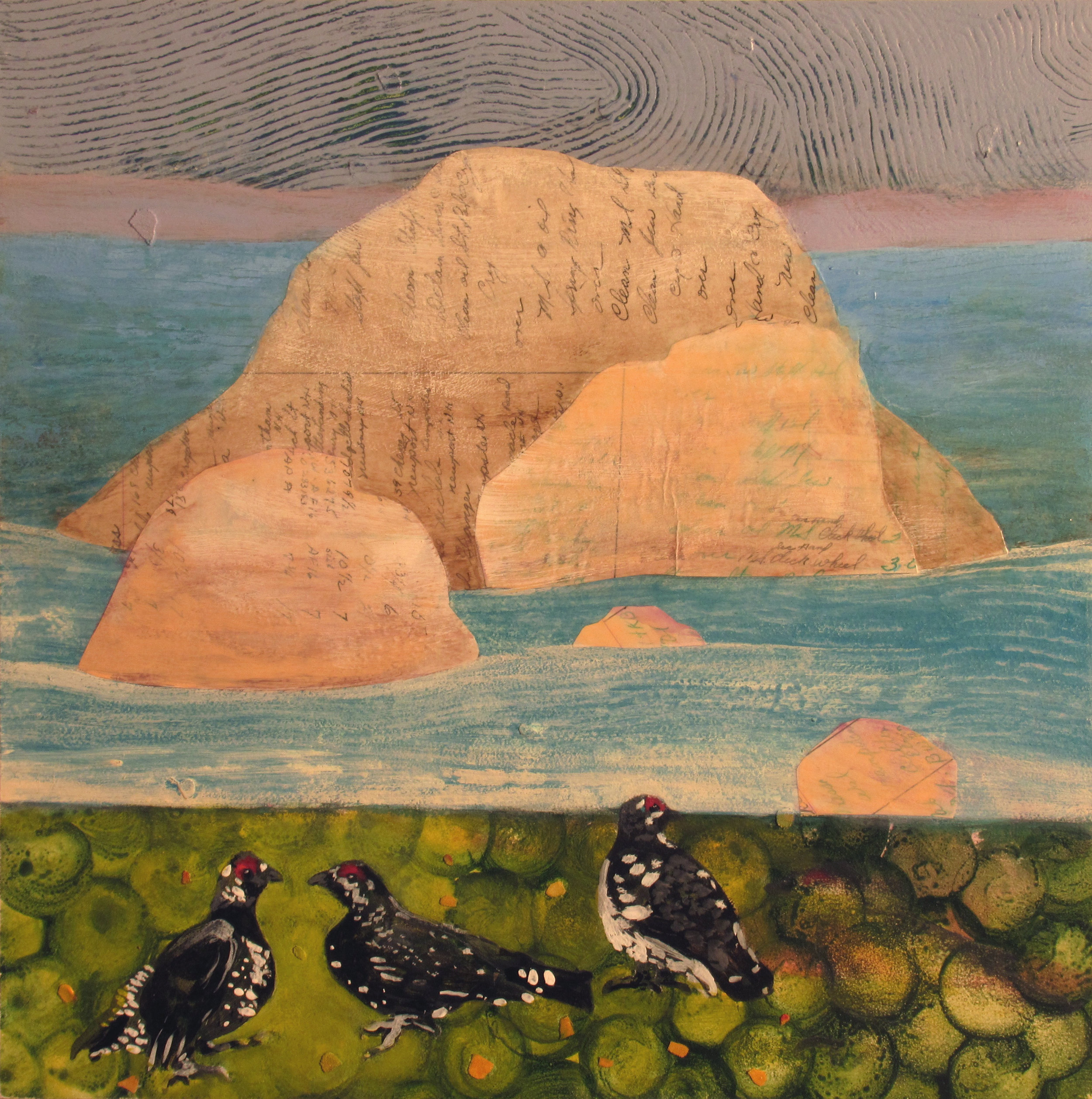 Love Triangle •  Ocean View with Spruce Grouse ( Allegra's Menagerie )