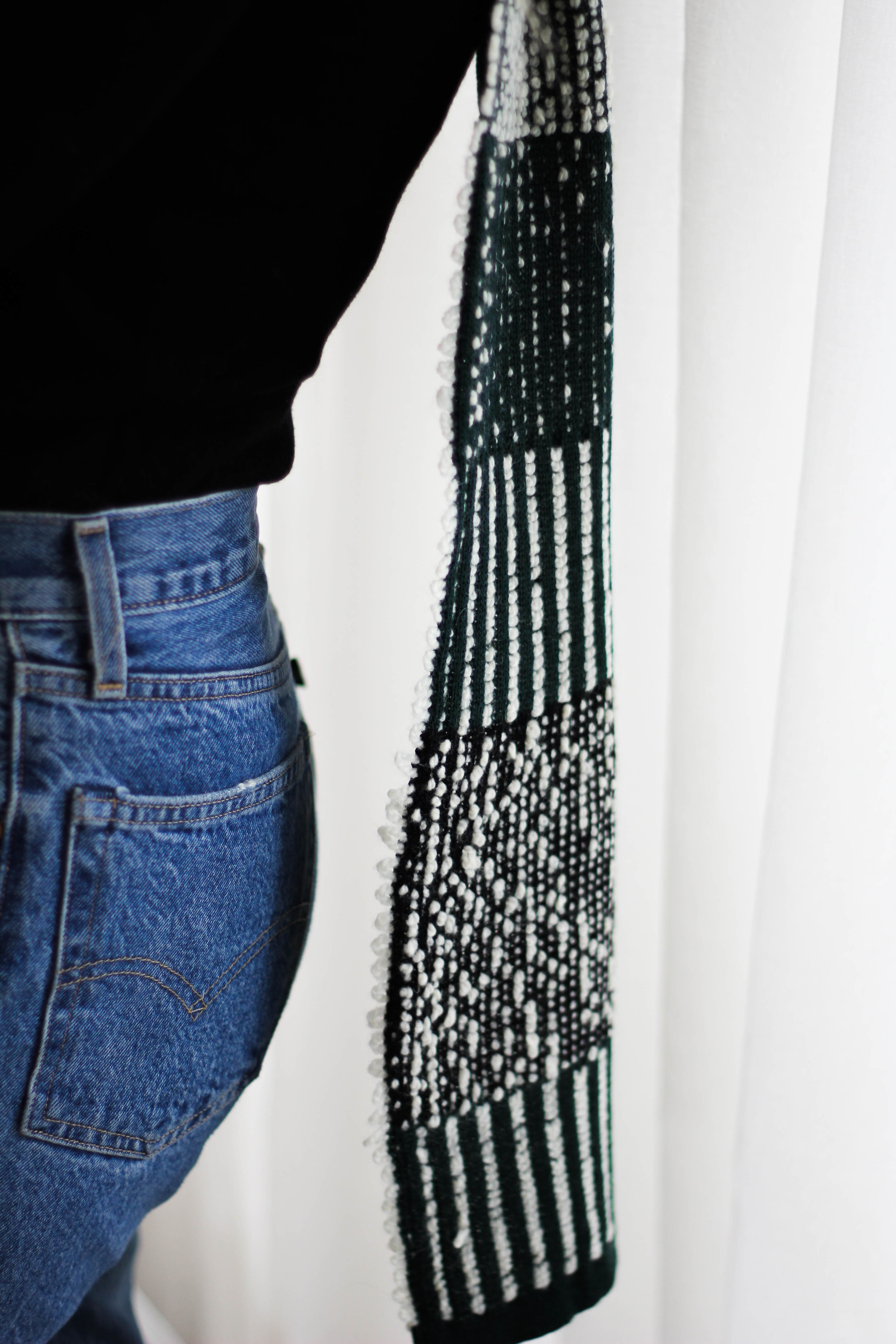Charlie | Scarves - Charlie is a knitted scarf collection with a focus on graphic patterns