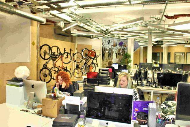 Inside our offices, 163 City Road, London