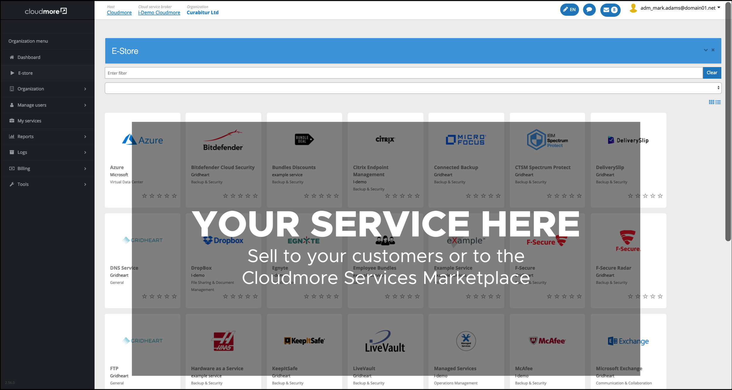 Service Catalog - Get a fast start in the Cloud.Add your own services and combine with other services, available instantly, through the Cloudmore Service Catalog.