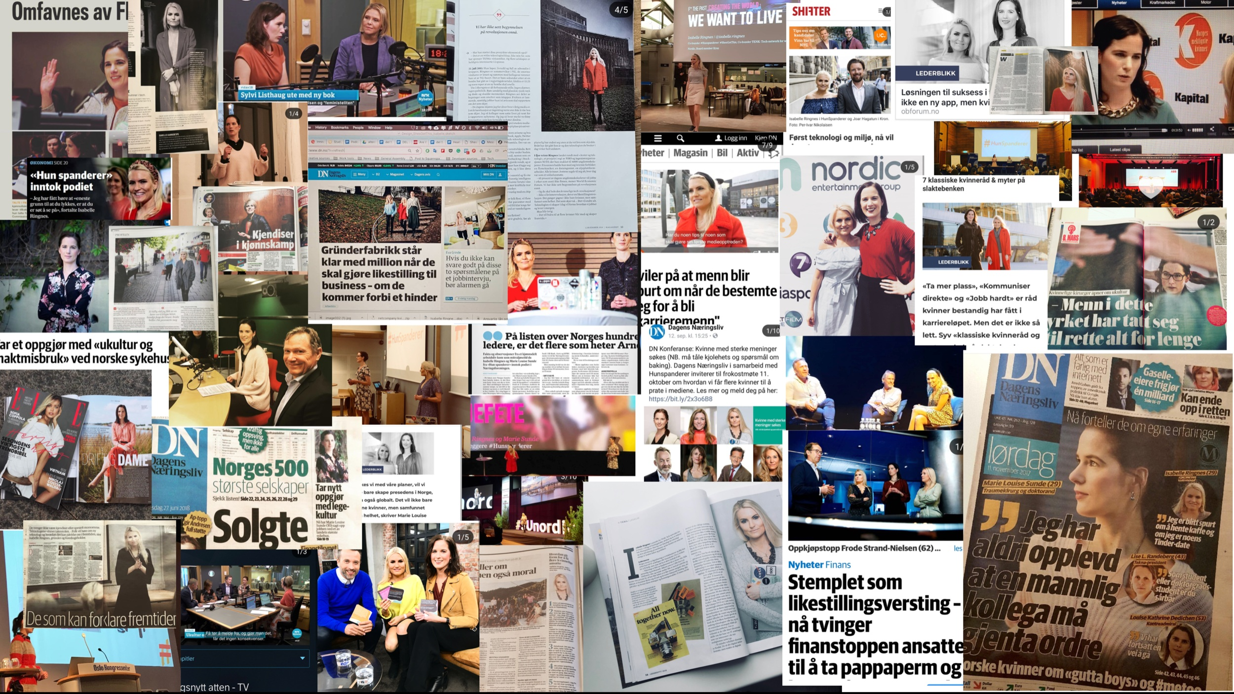 Media coverage from the leading media channels in Norway
