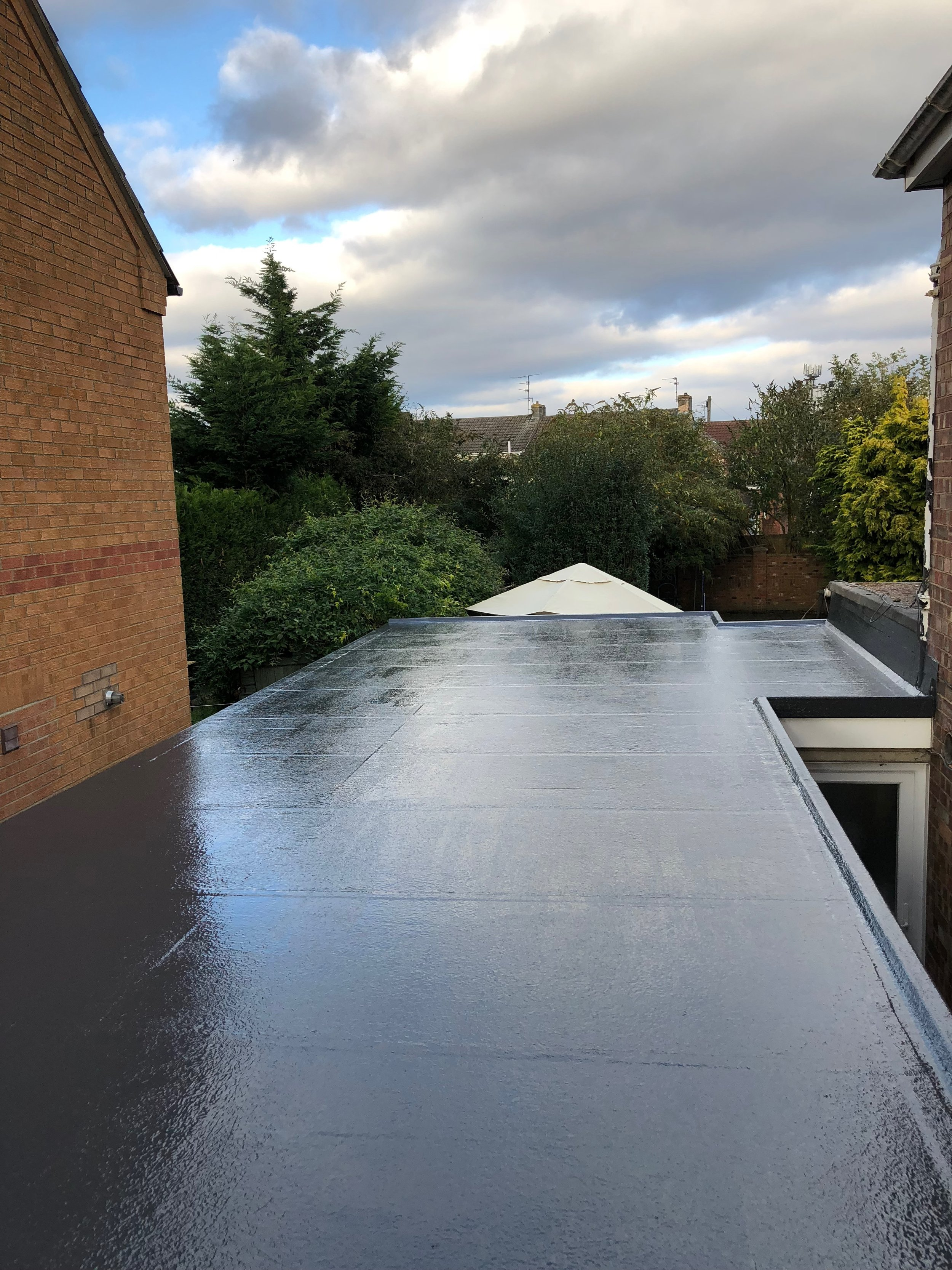 Fibreglass Flat Roofing - The ultimate in high performance Flat Roofing backed up with a 25 year warranty.