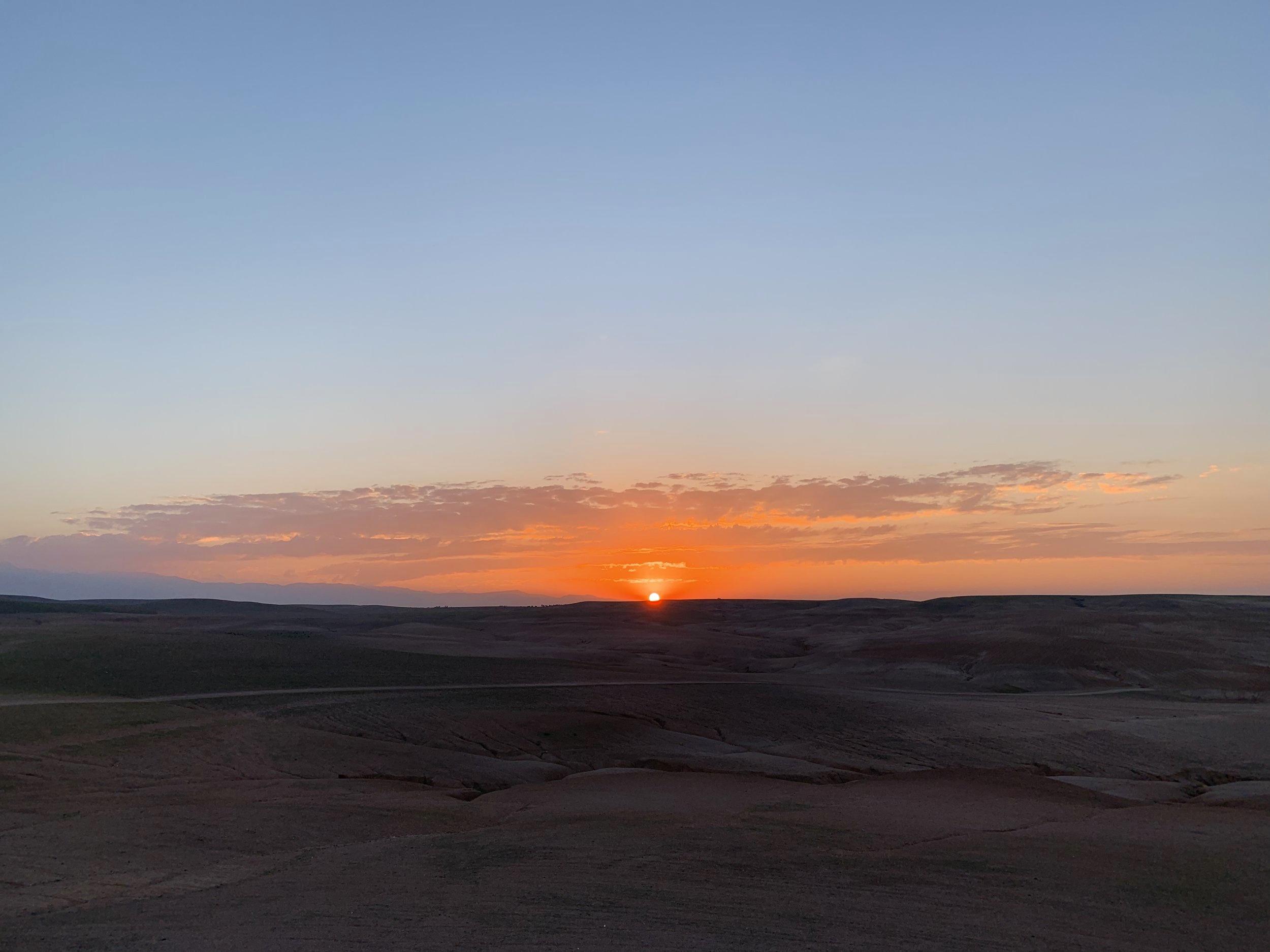 Sunset at Inara Camp