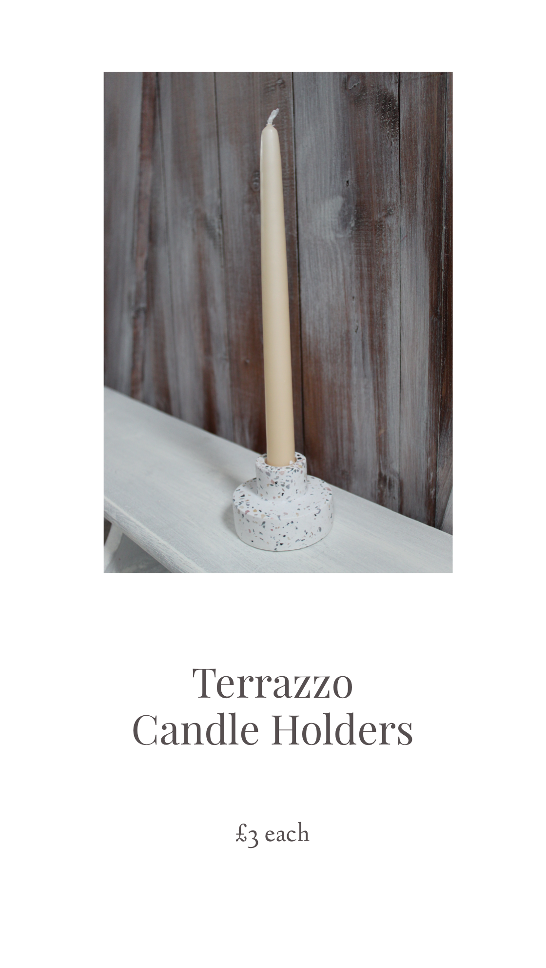 sass wedding terazzo candle holder prop hire.png