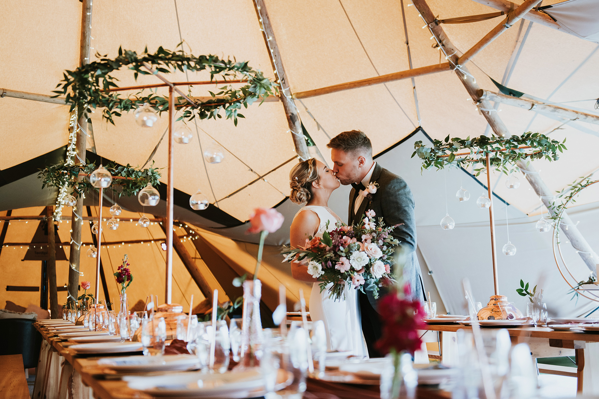 All That Glimmers - Alternative tipi styling with all the sparkle at The Hidden Hive