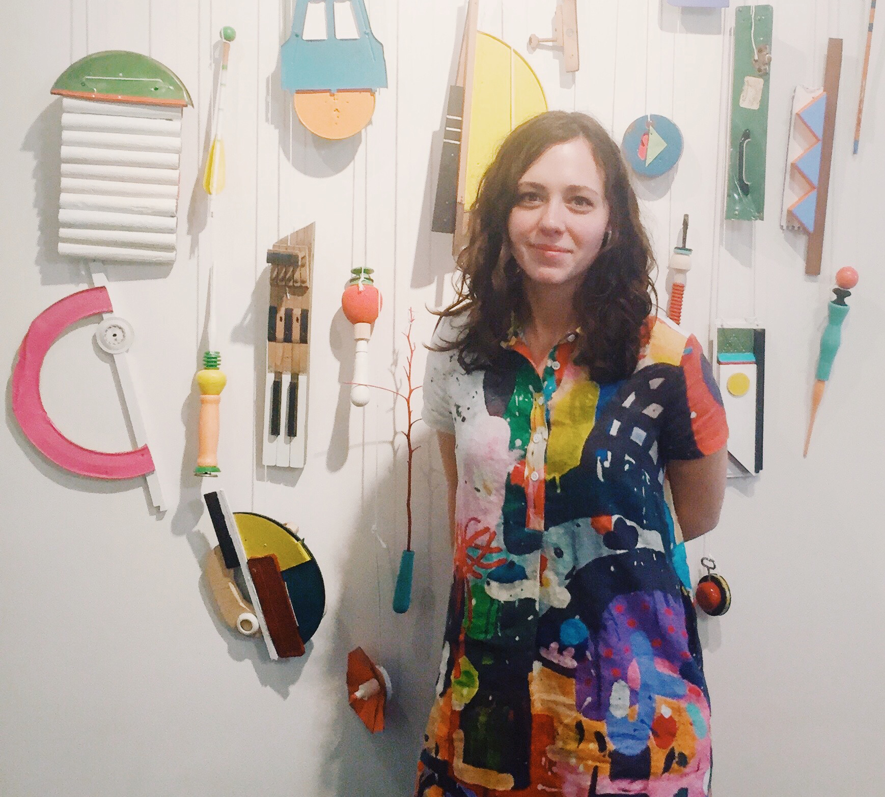 Elizabeth Arzani in front of her installation,  The Not So Still, Still Life