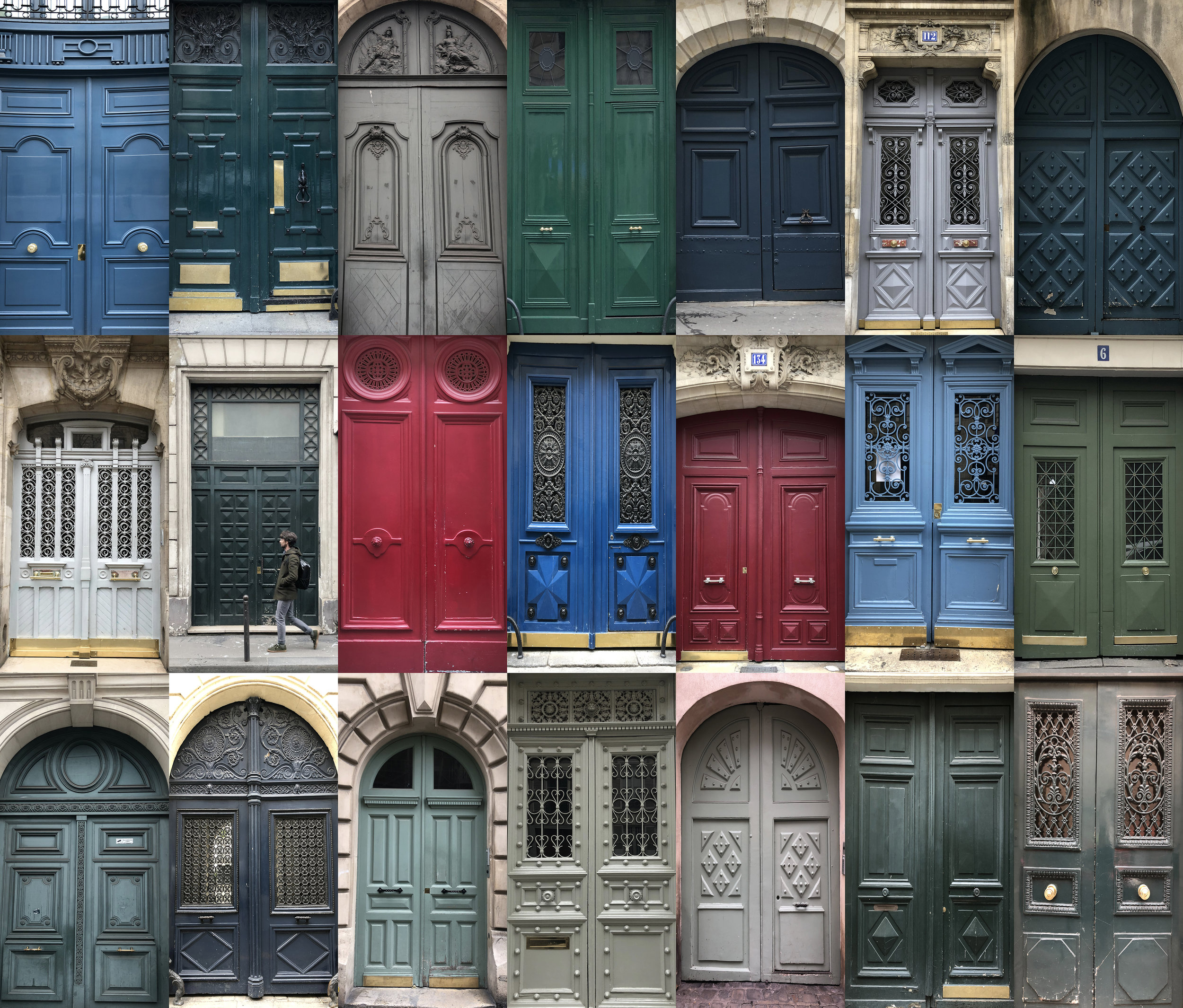 How many doors in Paris can you document in one day?