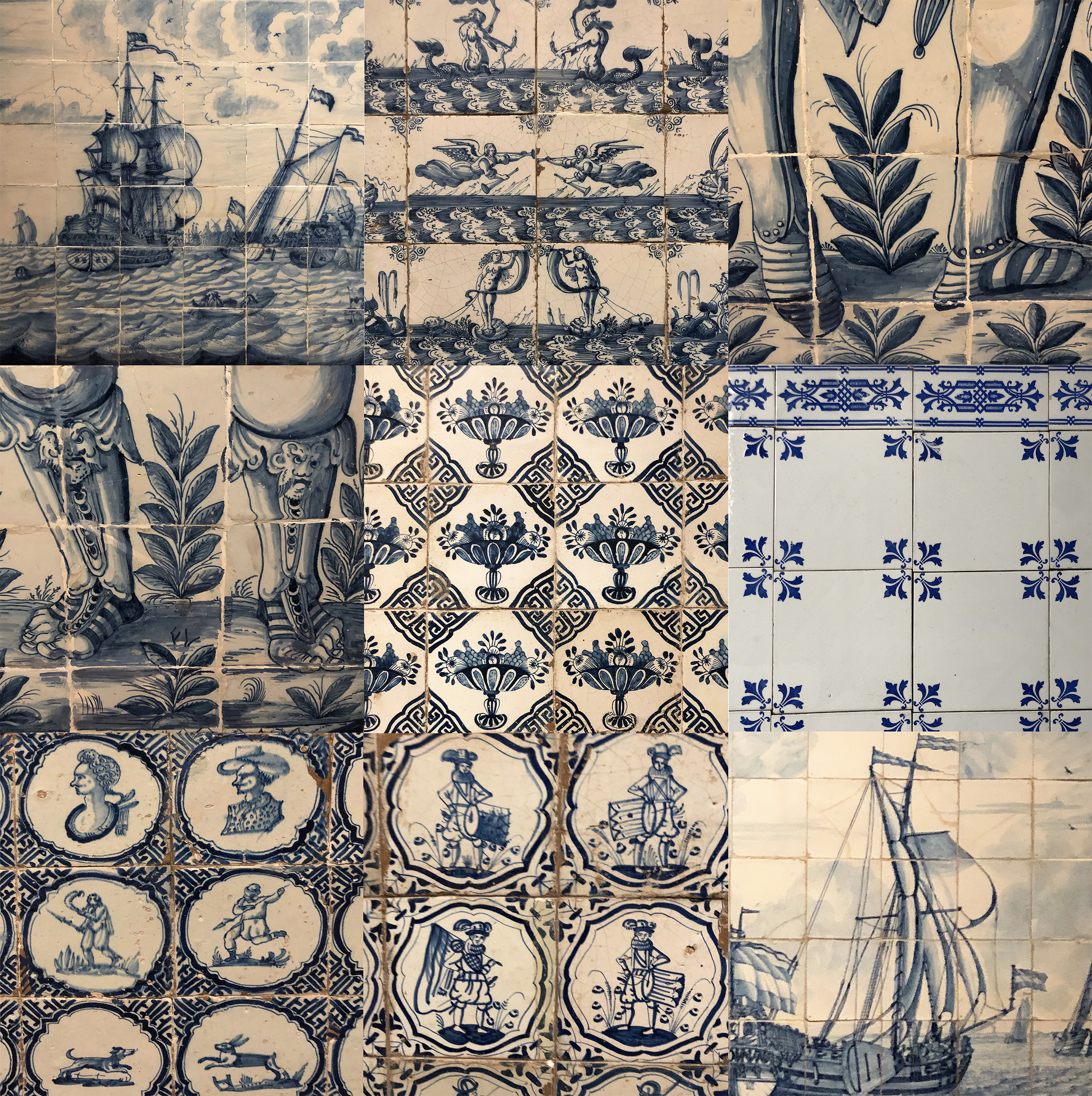 Examples of Delftware found in the neighborhoods of Amsterdam & the Rijksmuseum's collection