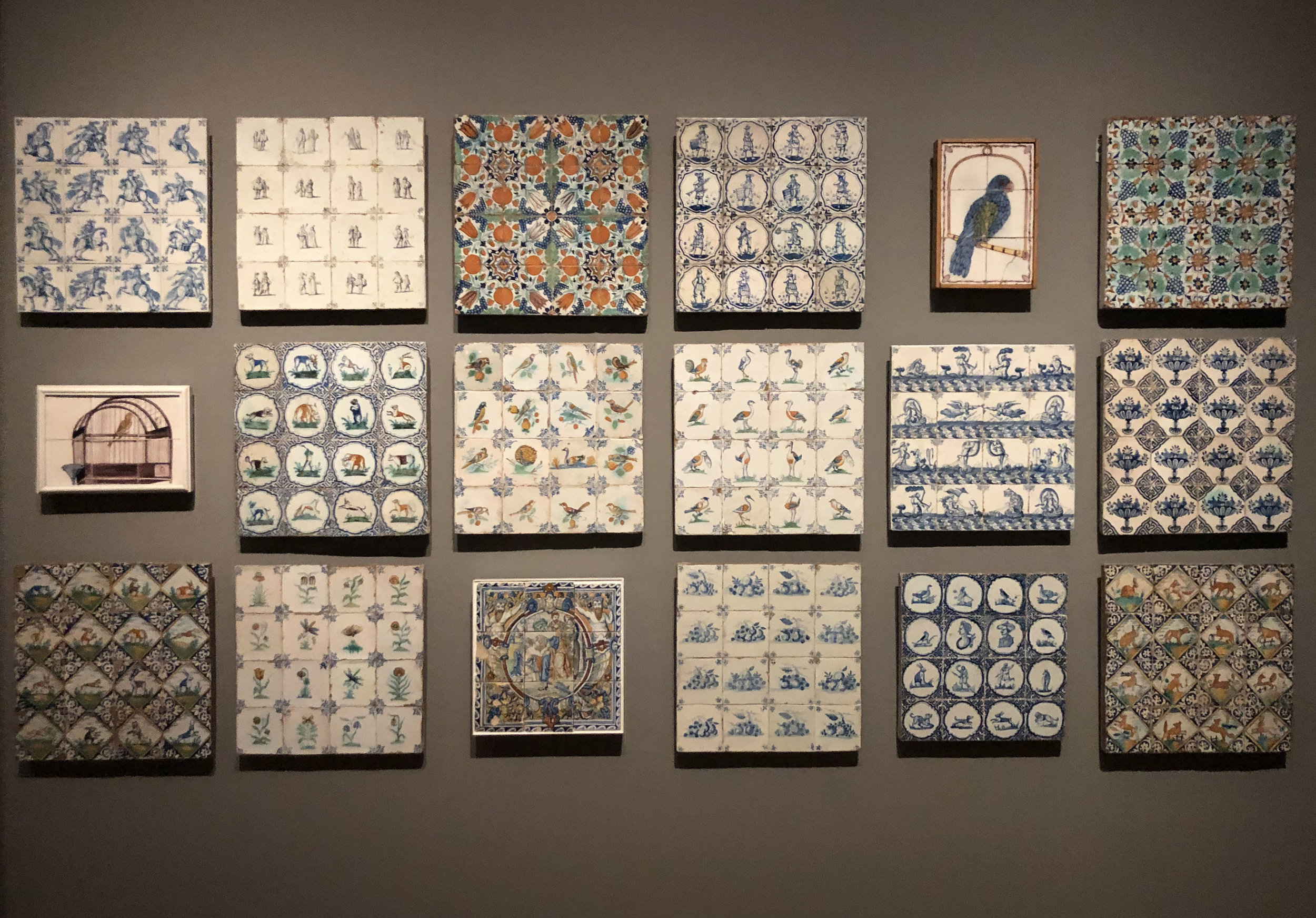 A portion of Rijksmuseum's Dutch Tile Collection