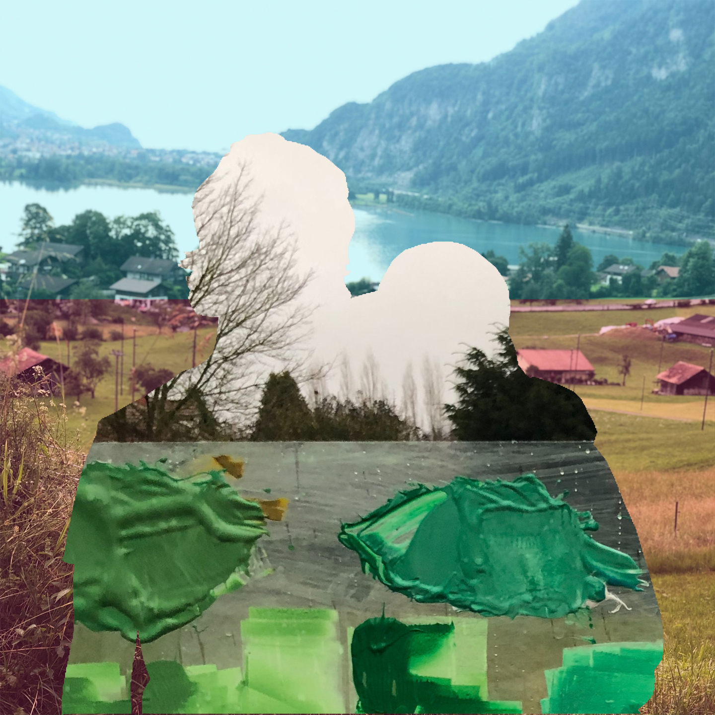 The Green Places I've Lived,  Digital Collage, 2019