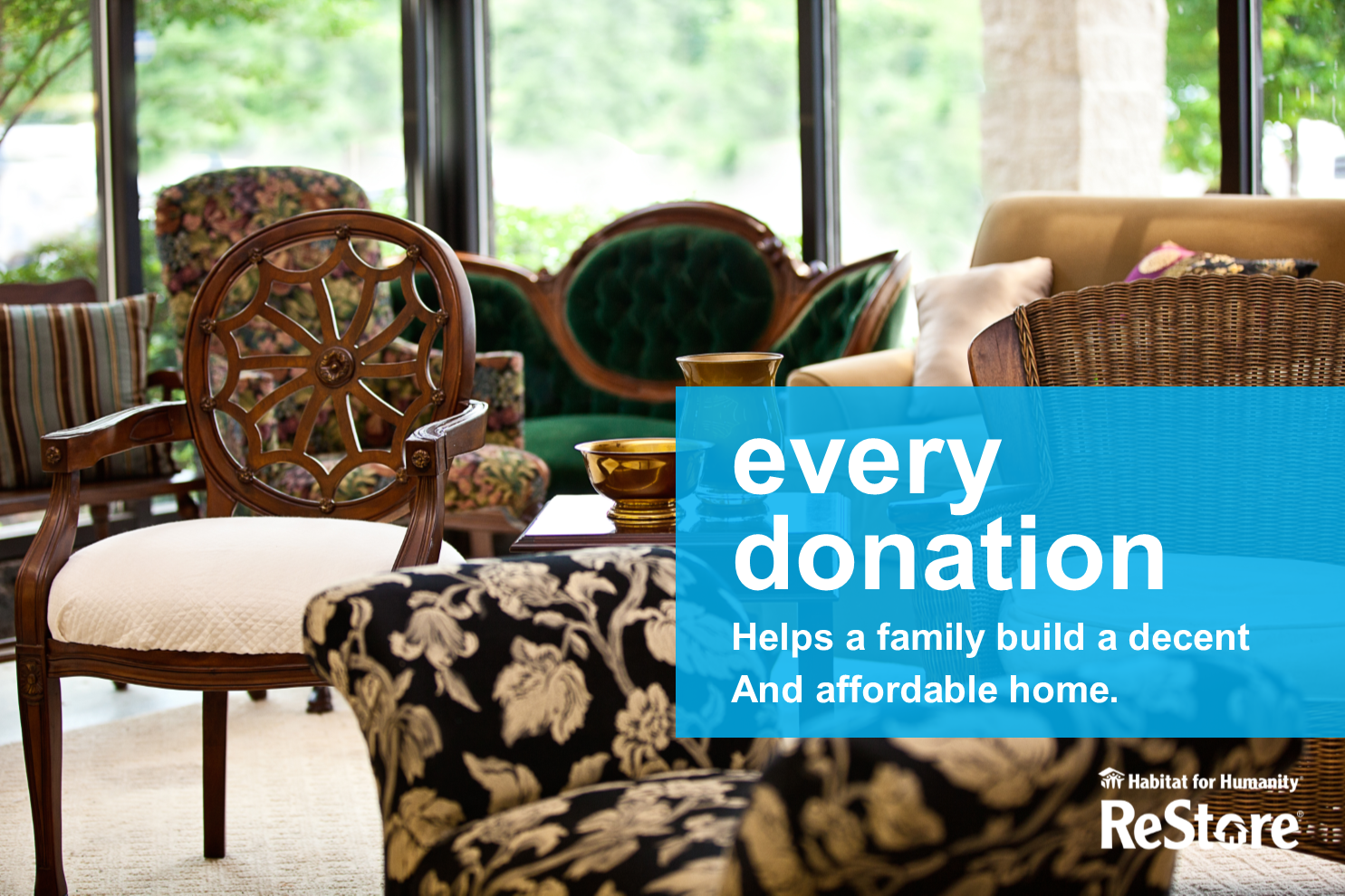 Donate to ReStore - Help fund the mission of Habitat for Humanity!Donate today