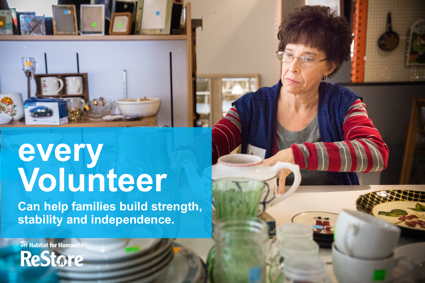 Volunteer with ReStore - You don't have to swing a hammer to help!Volunteer today