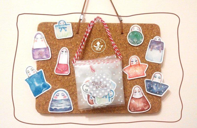 Bag dolls 貼紙包 NT$50/包