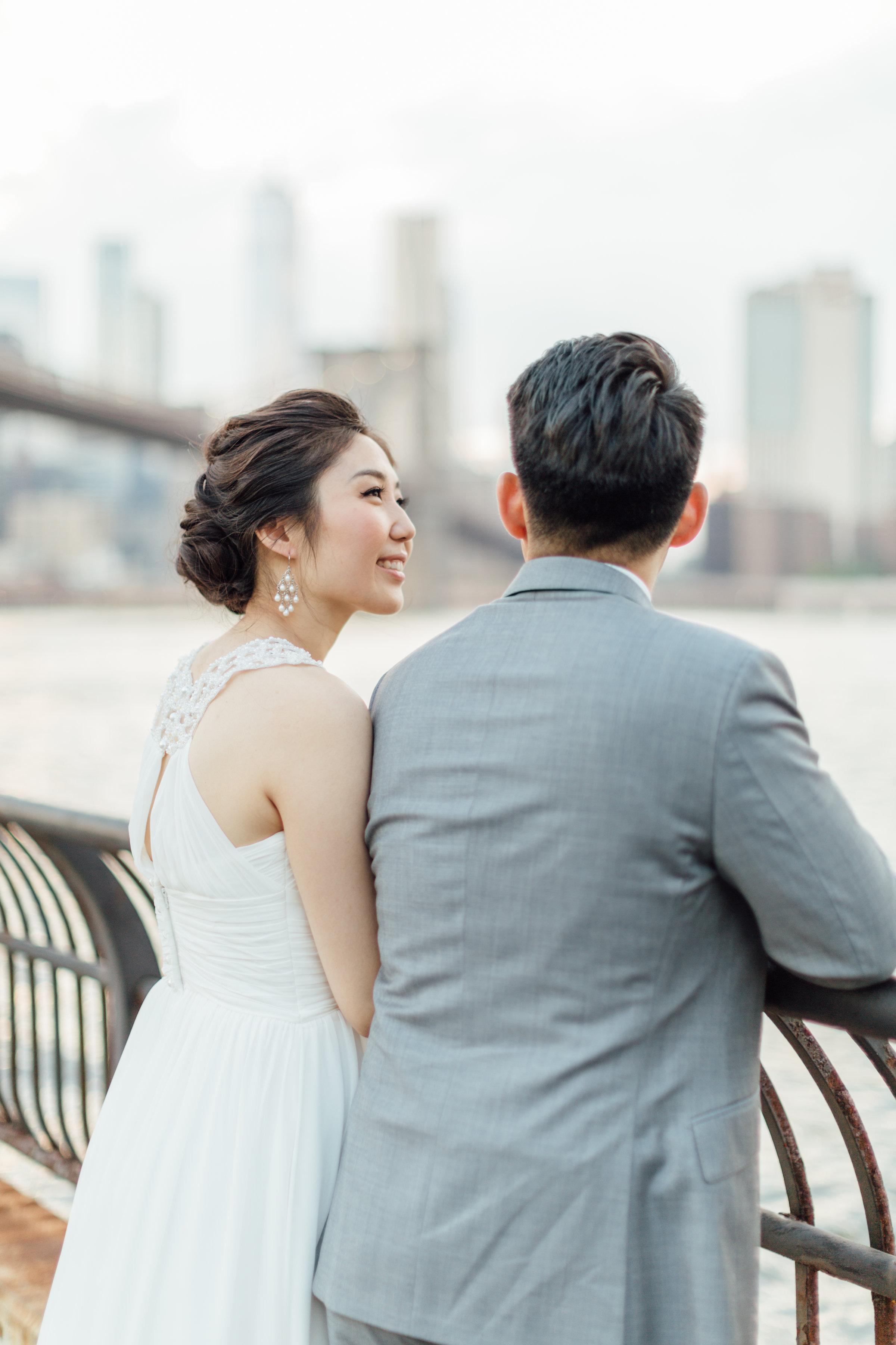 Bridal updo on asian hair