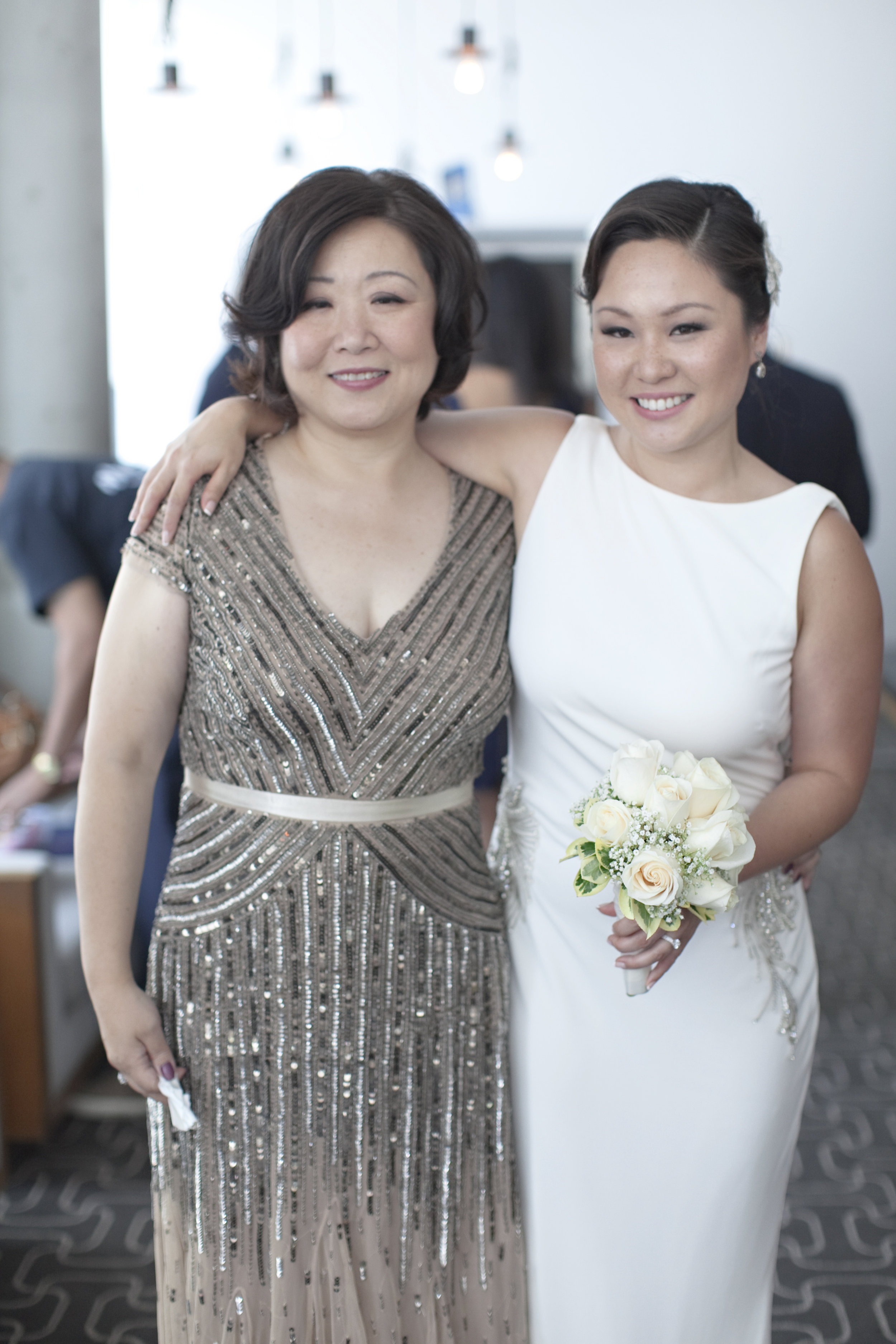 Chinese mom and bride