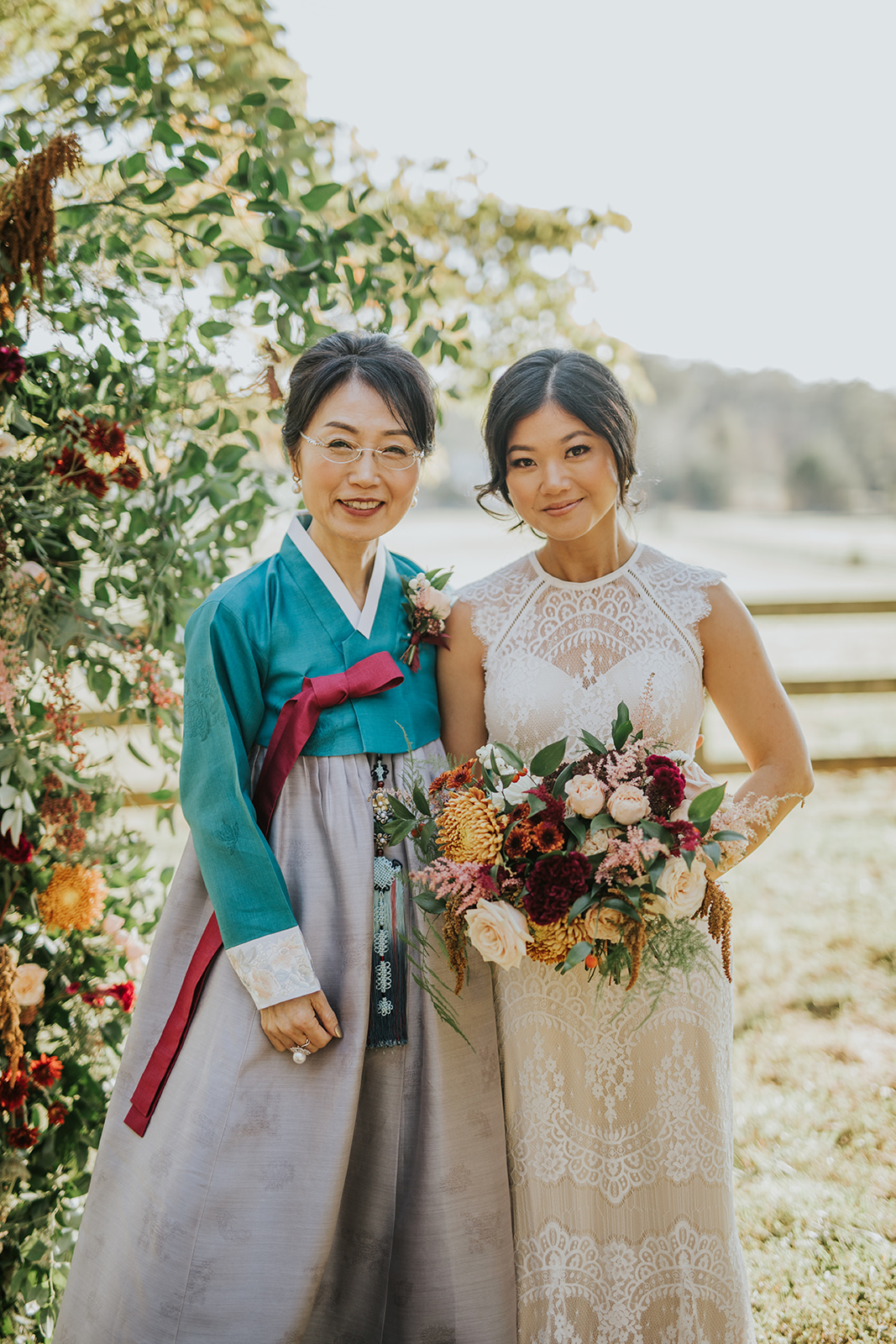 Korean bride and mother of the bride