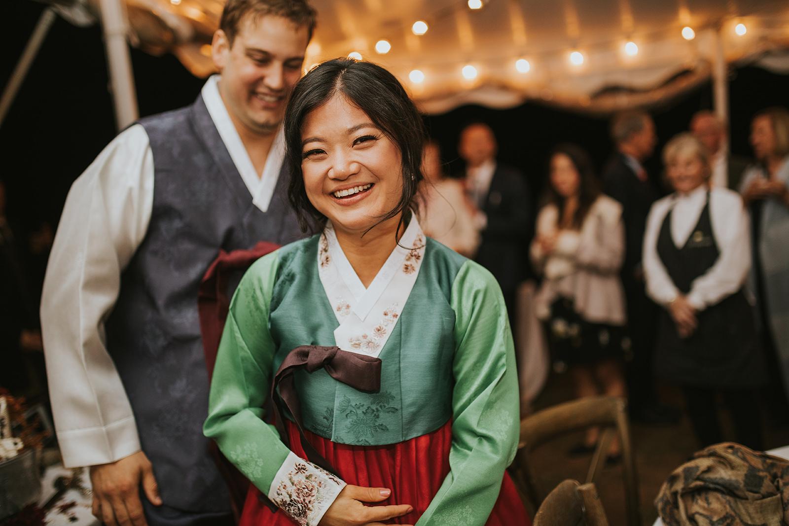 Korean traditional bride