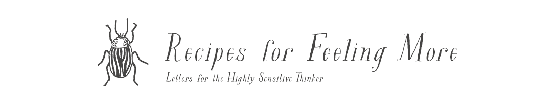 Letters for the Highly Sensistive Thinker.