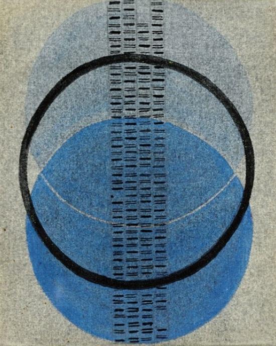 Collona Sonora (Soundtrack), tempera on canvas (1967) by Bice Lazzari  ©Sotheby's