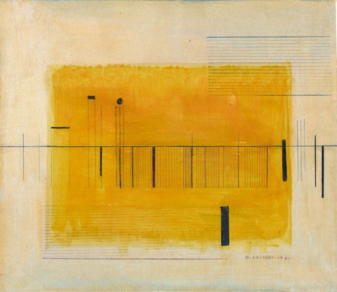 Untitled, tempera, coloured pencil and pastel on paper (1971) by Bice Lazzari ©Sotheby's