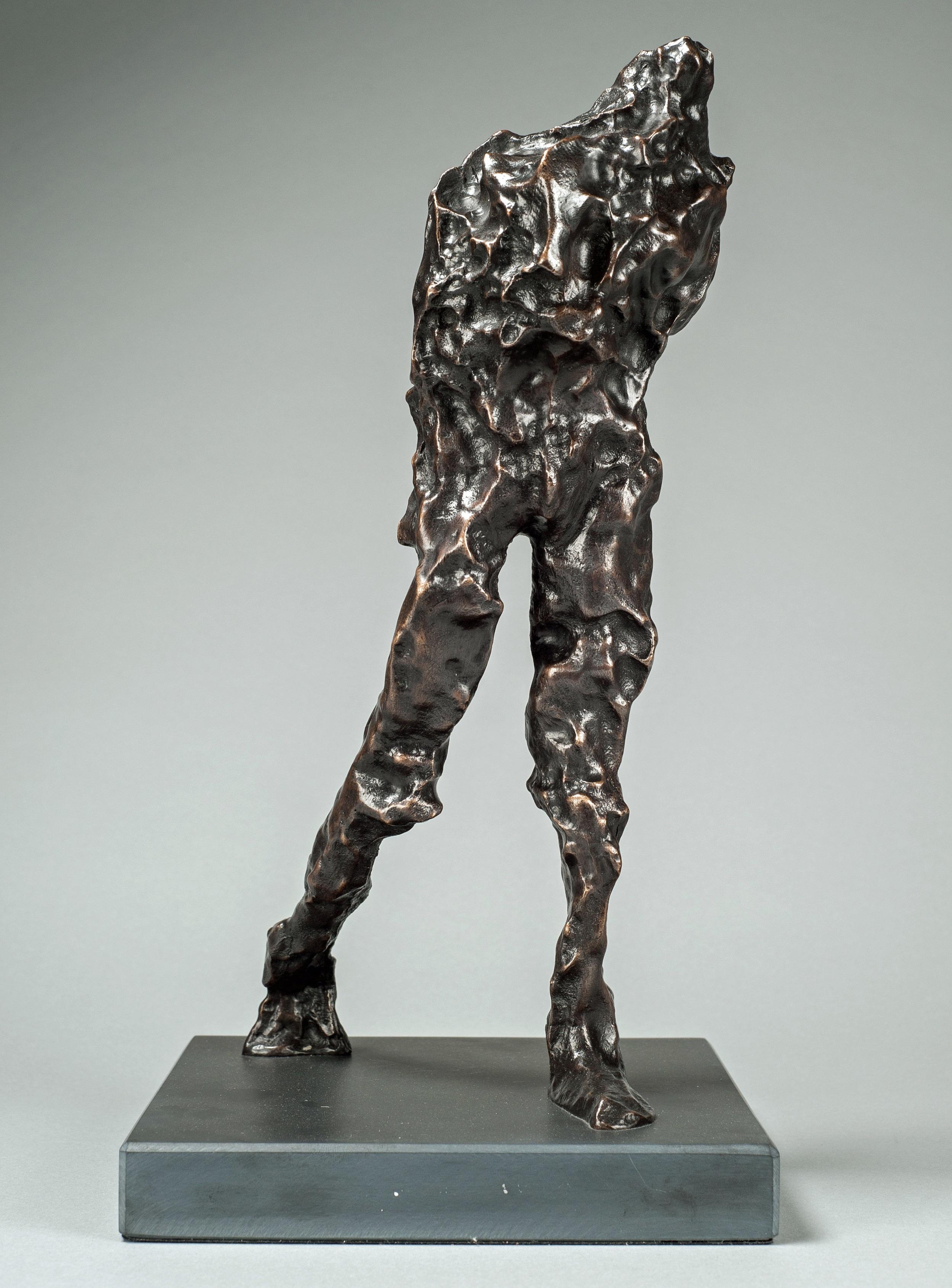 Striding, bronze, by Maurice Blik