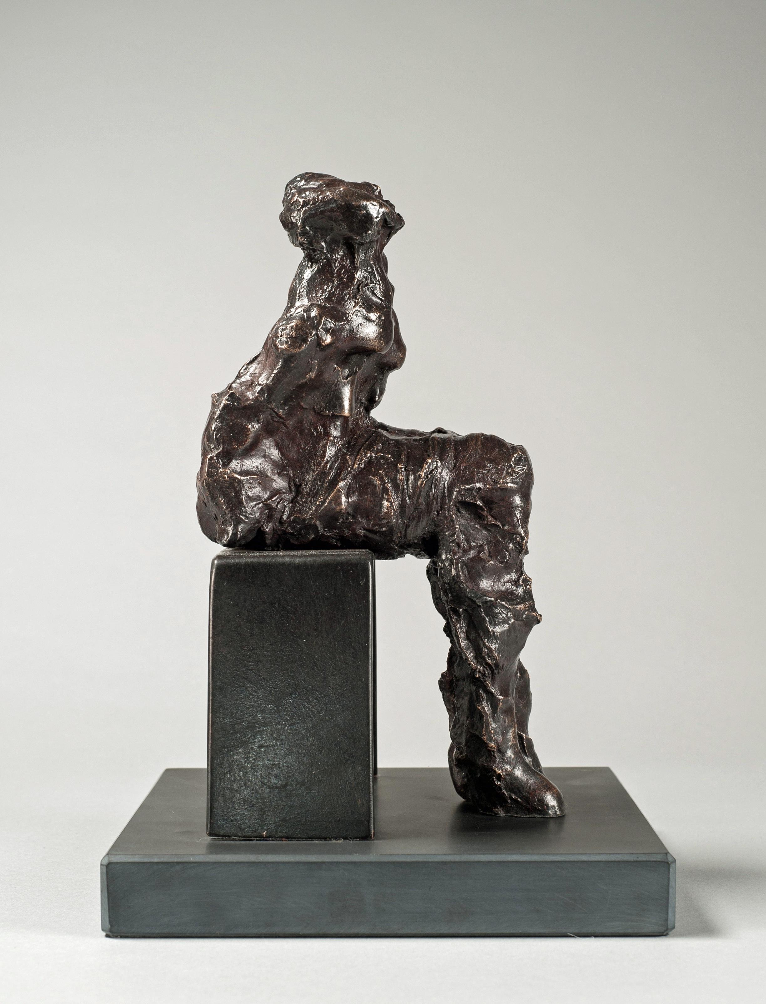 Sitting, bronze, by Maurice Blik