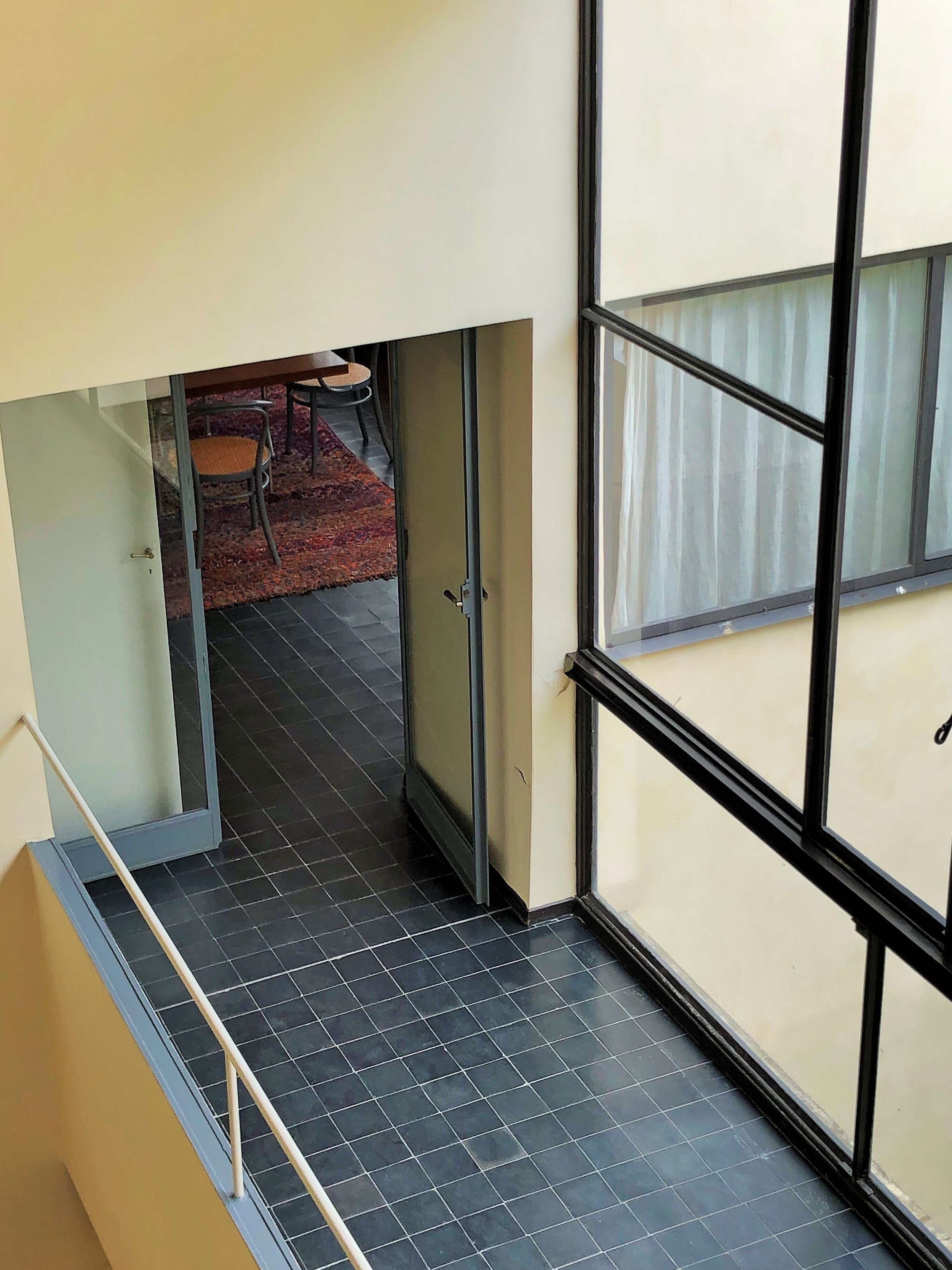 The hallway, looking into the dining room, Maison La Roche, by Le Corbusier Photograph ©The London List
