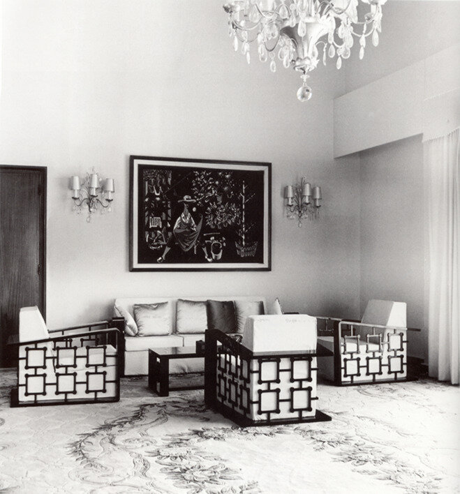 The Queen of Saudi Arabia's sitting room, Djeddah (1963) by Jean Royère