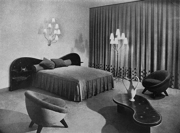 Jean Royère at the Salon des art ménagers, Paris (1954)