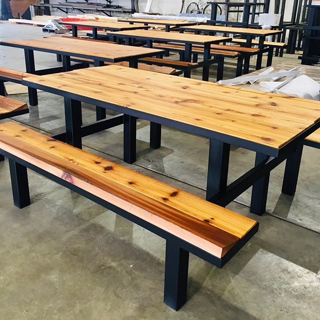 We have a few custom benches shipping out soon to @unionstationstl for our friends at @lawrence_group