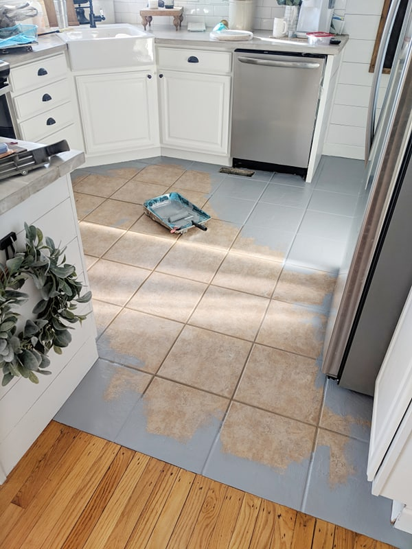 The Day I Painted My Kitchen Tile Floor Our Forever Farmhouse
