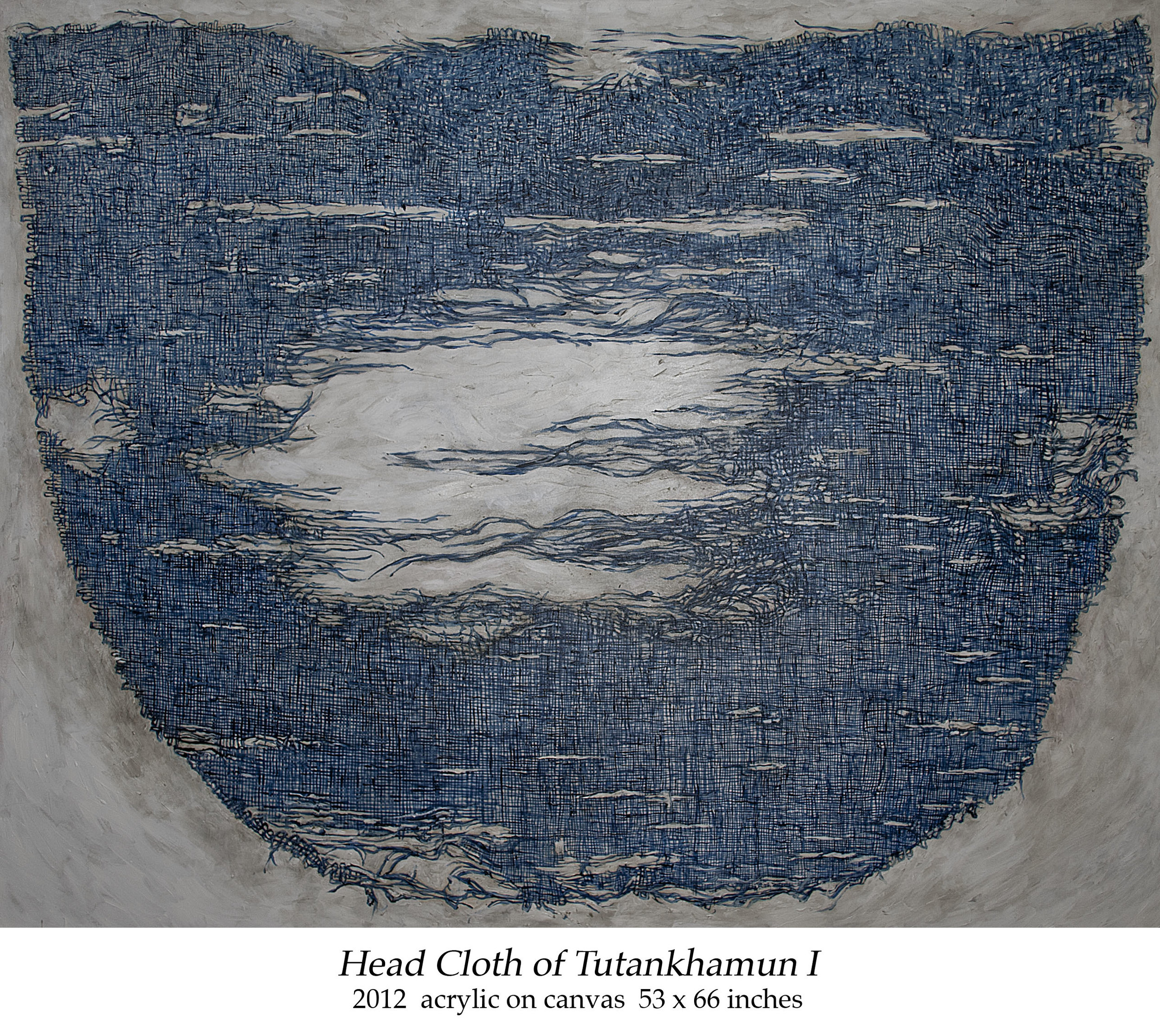 Head Cloth of Tutankhamun I 2012 acrylic on canvas 53 x 66 inches.jpg
