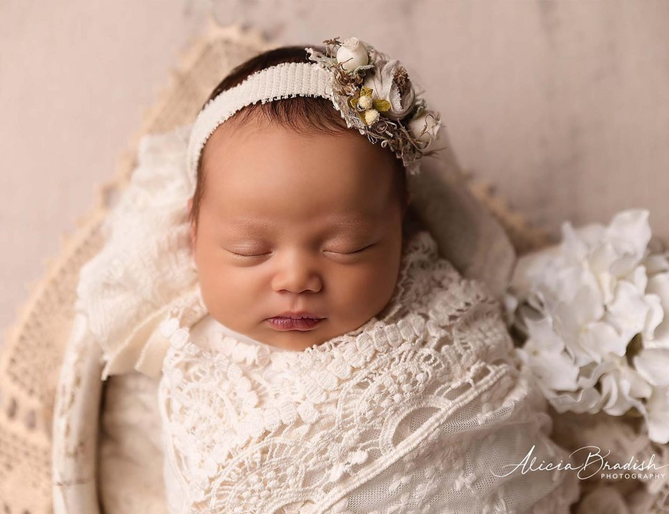 This baby looks so peaceful and beautiful.
