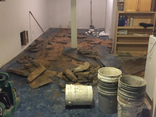 Excavating 90 year old pipes and updating the laundry plumbing was the first step in our basement renovation. Buying a fixer upper lets you take care of big projects before you move in, and make the space perfect for you starting at Day 1.